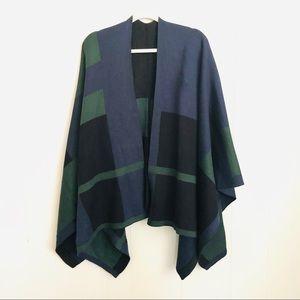 Lauren Ralph Lauren color block reversible cape